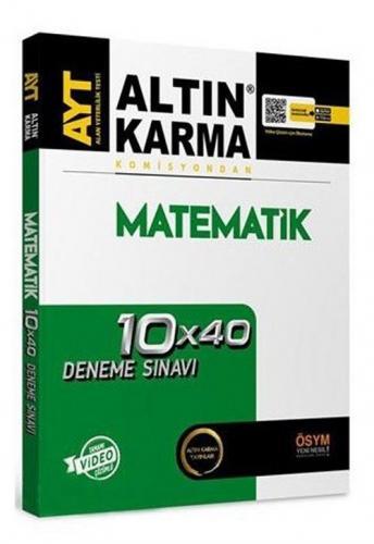 Altın Karma YKS AYT Matematik 10x40 Deneme Video Çözümlü Altın Karma Yayınları