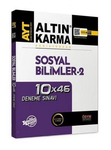 Altın Karma YKS AYT Sosyal Bilimler-2 10x46 Deneme Video Çözümlü Altın Karma Yayınları