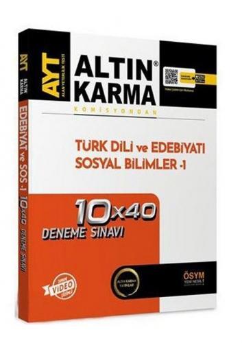 Altın Karma YKS AYT Türk Dili ve Edebiyatı Sosyal Bilimler-1 10x40 Deneme Video Çözümlü Altın Karma Yayınları