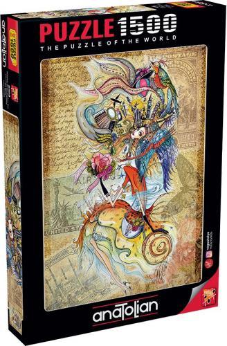 Anatolian Dünyayı Gezen Çerkes Kızı 1500 Parça Puzzle - Yapboz