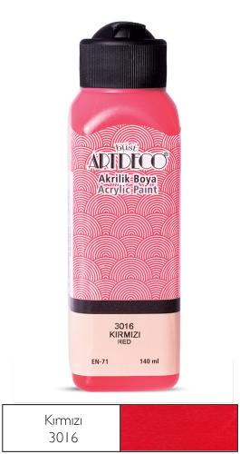 Artdeco Akrilik Boya 140 ML Kırmızı Y-070R-3016