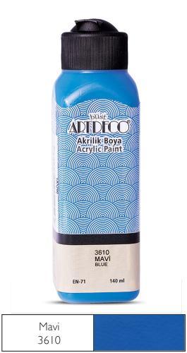 Artdeco Akrilik Boya 140 ML Mavi 070R-3610