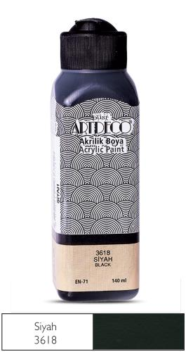 Artdeco Akrilik Boya 140 ML Siyah 070R-3618