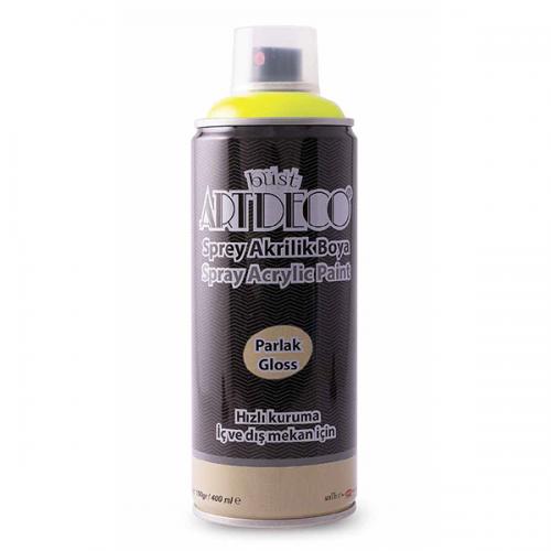 Artdeco Akrilik Sprey Boya 400 ML Neon Sarı Y-400-910