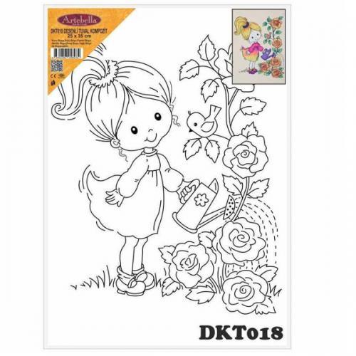 Artebella Tual Kompozit Desenli 25x35 CM DKT018
