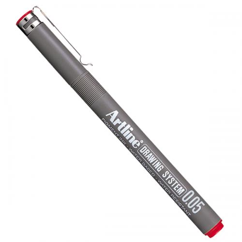 Artline Çizim Kalemi 0,05 MM Kırmızı EK-2305