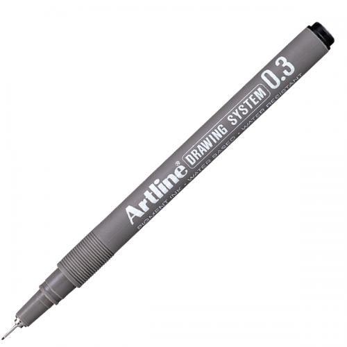 Artline Çizim Kalemi 0.3 MM Siyah EK233
