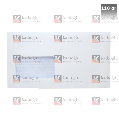 Asil Doğan Diplomat Zarf Extra Silikonlu Pencereli 10.5x24 110 GR Beyaz