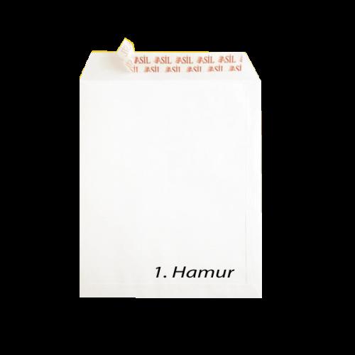 Asil Doğan Torba Zarf Extra Silikonlu 17x25 110 GR Beyaz