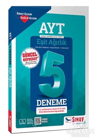 Sınav YKS AYT Eşit Ağırlık 5 Deneme Çözümlü Sınav Yayınları