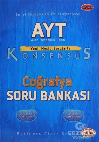 Editör YKS AYT Konsensüs Coğrafya Soru Bankası Editör Yayınları