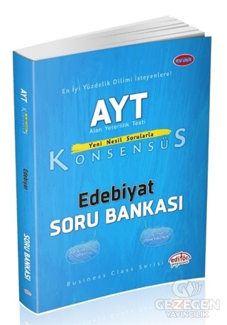 Editör YKS AYT Konsensüs Edebiyat Soru Bankası Editör Yayınları