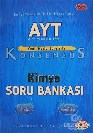 Editör YKS AYT Konsensüs Kimya Soru Bankası Editör Yayınları