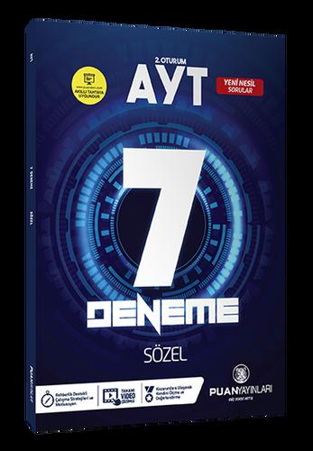 Puan YKS AYT Sözel 7 Deneme Video Çözümlü Puan Yayınları