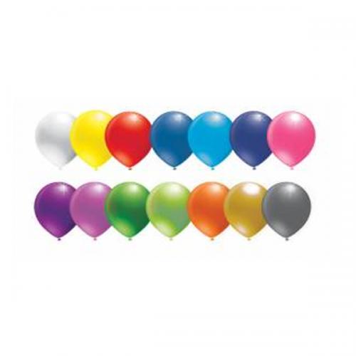 Balonevi Balon Baskısız Metalik Karışık Renk 100 LÜ BBP1000T121190