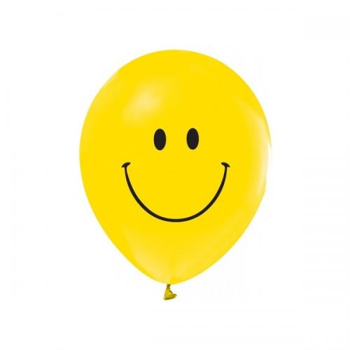 Balonevi Balon Gülen Yüz Baskılı 1+1 16 LI 7461