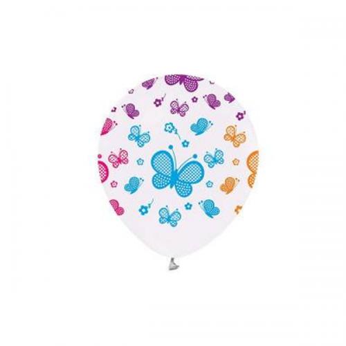 Balonevi Balon Kelebek Baskılı Beyaz 14 LÜ 1673