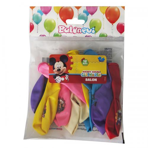 Balonevi Balon Mickey Lisanslı Baskılı 4+1 12 Lİ 7126