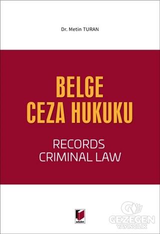 Belge Ceza Hukuku