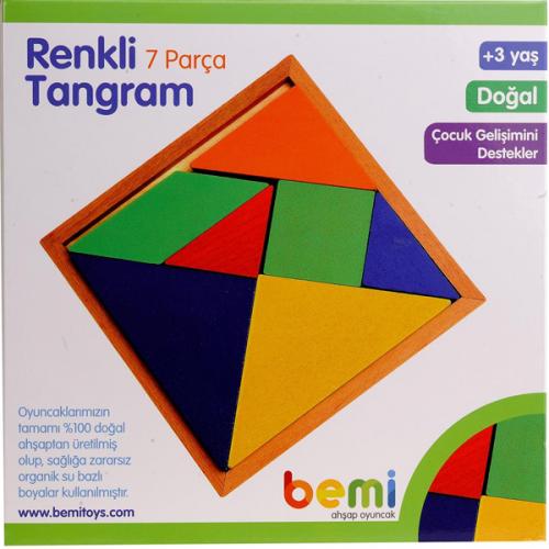 Bemi Tangram Ahşap Renkli 7 Lİ 1208
