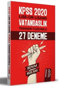 2021 KPSS Lise Ön Lisans Vatandaşlık Tamamı Çözümlü 27 Deneme