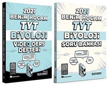 2021 YKS TYT Biyoloji Video Ders Defteri + Soru Bankası 2 li Set - Dilek Kuvvet | Benim Hocam Yayınları