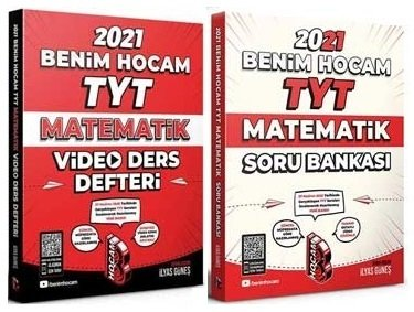 Benim Hocam 2021 YKS TYT Matematik Video Ders Defteri + Soru Bankası 2 li Set - İlyas Güneş Benim Hocam Yayınları