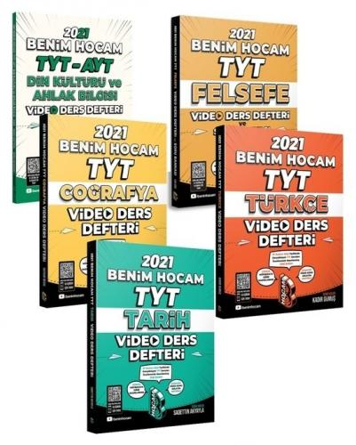 Benim Hocam 2021 YKS TYT Sözel Video Ders Defteri 5 li Set Benim Hocam Yayınları