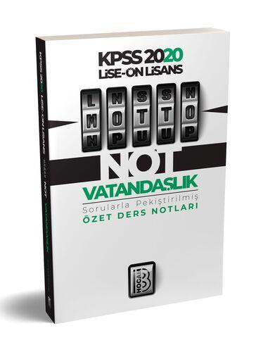 2020 KPSS Lise Ön Lisans MOTTO Vatandaşlık Ders Notları