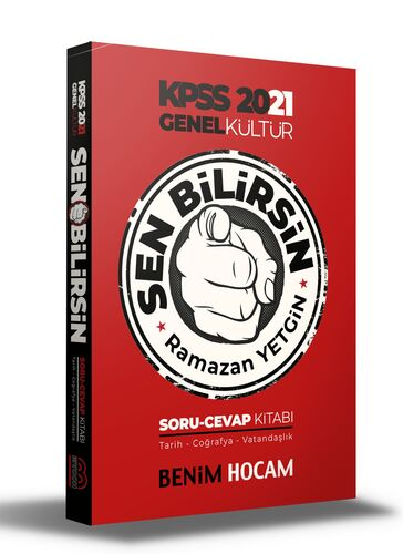 Benim Hocam Yayınları KPSS 2021 Genel Kültür Sen Bilirsin Tarih-Coğrafya-Vatandaşlık Soru Cevap Kitabı