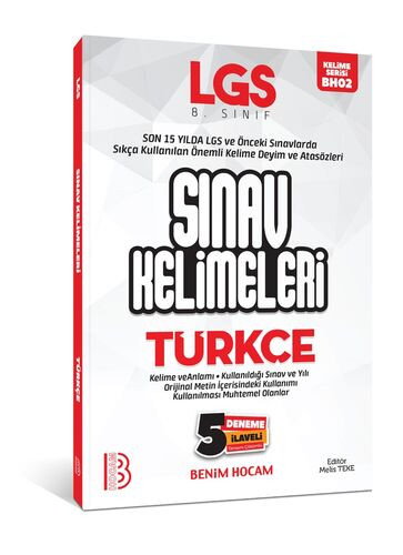 LGS Türkçe Sınav Kelimeleri 5 Deneme İlaveli