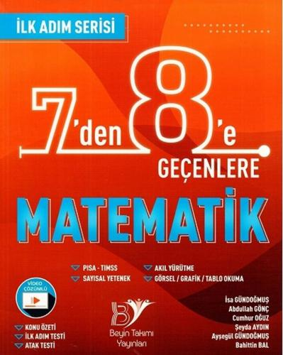 Beyin Takımı 7 den 8 e Geçenlere Matematik İlk Adım Serisi