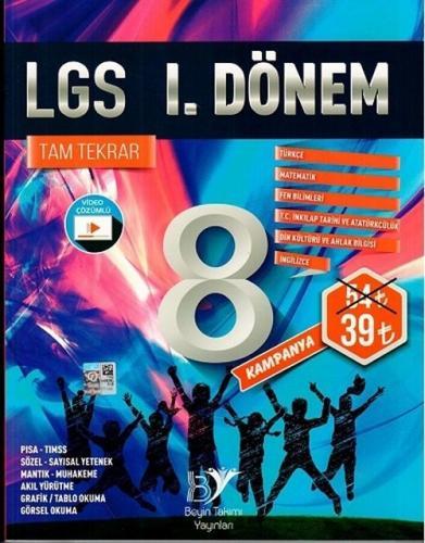 Beyin Takımı 8. Sınıf LGS 1. Dönem Tam Tekrar Soru Bankası