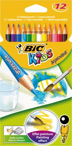 Bic Kuru Boya Kids Karton Kutu Aquarell 12 Renk 8575613
