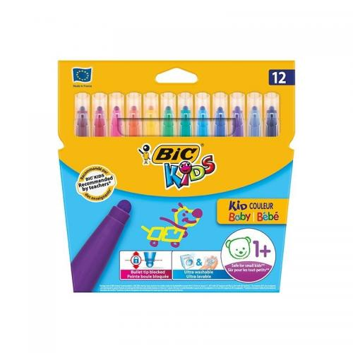 Bic Keçeli Boya Kalemi Kids Couleur Yıkanabilir 12 Renk 920293