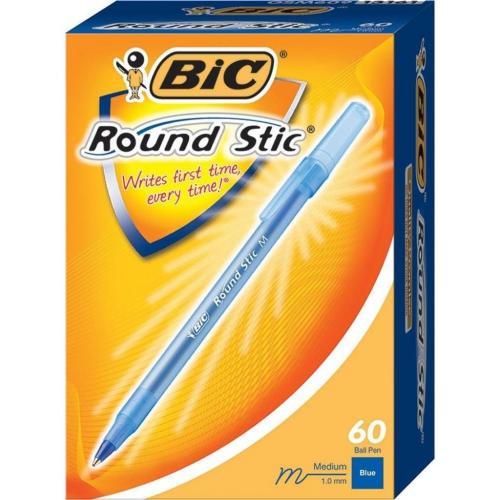 Bic Tükenmez Kalem Round Stick 1.0 MM 60 LI Mavi