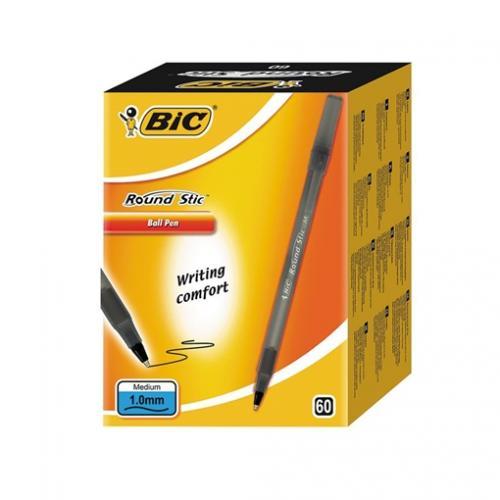 Bic Tükenmez Kalem Round Stick 1.0 MM 60 LI Siyah 920568