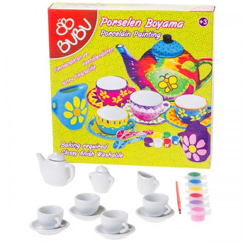 Bu-Bu Porselen Boyama Çay Keyfi Seti 1 70347 BUBU-PB0005