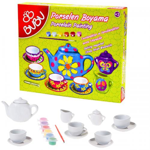 Bu-Bu Porselen Boyama Çay Keyfi Seti 2 70463