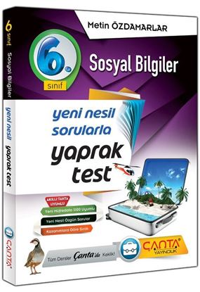 Çanta 6.Sınıf Yaprak Test Sosyal Bilgiler