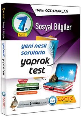 Çanta 7.Sınıf Yaprak Test Sosyal Bilgiler
