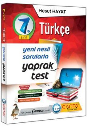 Çanta 7.Sınıf Yaprak Test Türkçe