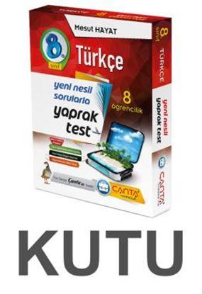 Çanta 8.Sınıf Kutu Yaprak Test Türkçe