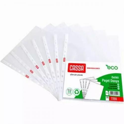 Cassa Poşet Dosya Eco 30 Micron 100 LÜ A4 Şeffaf 7255