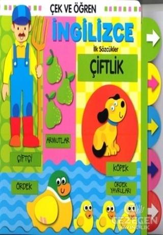 Çek ve Öğren İngilizce İlk Sözcükler - Çiftlik