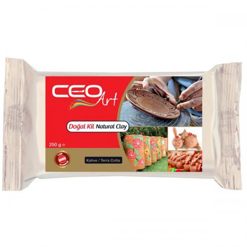 Ceo Art Seramik Hamuru Doğal 250 GR Kahverengi CEO-DK0002