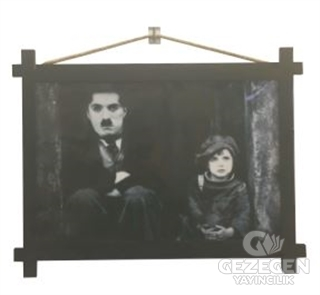 Charlie Chaplin Ahşap Tablo Kod - 000002