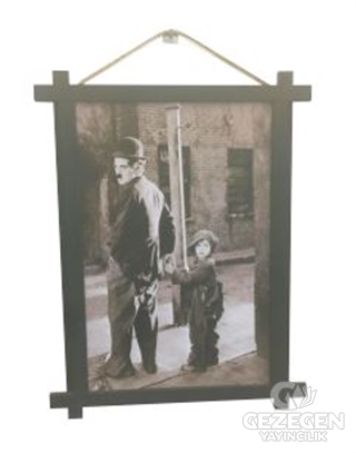Charlie Chaplin Ahşap Tablo Kod - 000003