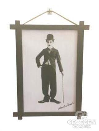Charlie Chaplin Ahşap Tablo Kod - 000004