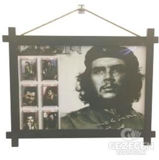 Che Guevara Ahşap Tablo Kod - 000009